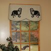 Curtain Chic Faithful Companions 3 Piece Retriever Dog Valance Set