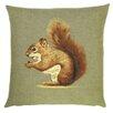 BelgianTapestries Sofakissen Eichhörnchen aus 100% Baumwolle