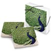 Epic Products Regal Peacock Stone Travertine Coaster (Set of 4)