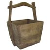 Asian Loft Vintage Wooden Elm Bucket