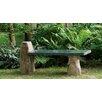 Stone Age Creations Side Leg Granite Boulder Garden Bench