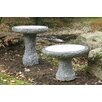 Stone Age Creations Natural Stone Plume Bird Bath
