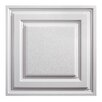 Genesis Icon Relief 2 ft. x 2 ft. PVC Lay-In Ceiling Tile in White (Set of 12)