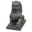 Hi-Line Gift Ltd. Foo Dog Left Paw on Ball Statue