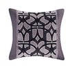 N Natori Abstract Stripe Cotton Throw Pillow