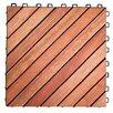 "Vifah Eucalyptus 11"" x 11"" Interlocking Deck Tiles (Set of 10)"