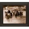 Classy Art Wholesalers Running Horses by Monte Naglar Framed Photographic Print