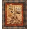 Classy Art Wholesalers Memories of Paris by Conrad Knutsen Framed Memorabilia