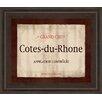 Classy Art Wholesalers Cote Du Rhone by Paola Viveiros Framed Vintage Advertisement