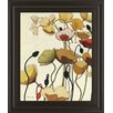 Classy Art Wholesalers Pavots Ondule I by Shirley Novak Framed Painting Print