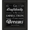 Classy Art Wholesalers Direction of Your Dreams by Sd Grraphics Framed Textual Art