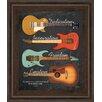 Classy Art Wholesalers My Guitar by John Jones Framed Graphic Art