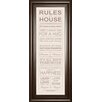 Classy Art Wholesalers Rules of the House Framed Textual Art