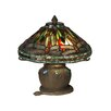 """Dale Tiffany Dragonfly 11.5"""" H Table Lamp with Empire Shade"""