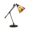 """Dale Tiffany Tiffany Leaf 18.5"""" H Table Lamp with Empire Shade"""