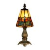 "Dale Tiffany Cavan Tiffany Accent 12.75"" H Table Lamp with Empire Shade"