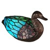 "Dale Tiffany Duck Accent 7"" H Table Lamp with Novelty Shade"