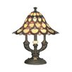 """Dale Tiffany Peacock 19"""" H Table Lamp with Bell Shade"""