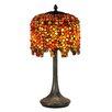 "Dale Tiffany Pebblestone Wisteria 22.5"" H Table Lamp with Novelty Shade"