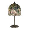"Dale Tiffany Flowering Lotus 29"" H Table Lamp with Bell Shade"