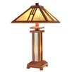 """Dale Tiffany Wood Mission 26"""" H Table Lamp with Empire Shade"""