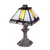 """Dale Tiffany Tranquility Mission 11"""" H Table Lamp with Empire Shade"""
