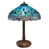 """Dale Tiffany Dragonfly 31.5"""" H Table Lamp with Bowl Shade"""