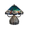 """Dale Tiffany Dragonfly Trunk 17.5"""" H Table Lamp with Empire Shade"""