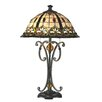 """Dale Tiffany Florence 24.8"""" H Table Lamp with Bell Shade"""
