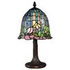 """Dale Tiffany Lotus 14.8"""" H Table Lamp with Bell Shade"""