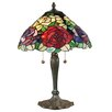 """Dale Tiffany Tiffany Rose 22.5"""" H Table Lamp with Bell Shade"""