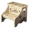 Renditions by Reesa 2-Step Manufactured Wood Personalized Cowboy Step Stool with 200 lb. Load Capacity