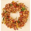 "Worth Imports 20"" Maple Leaf/Mixed Berry Fall Wreath"