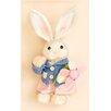 Worth Imports Rabbit Holding Flower Figurine