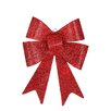 Penn Distributing LED Lighted Battery Operated Vibrant Red Bow Christmas Decoration