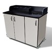 Amcase Mobile Condiment Cart with Wastebin Storage