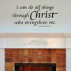 Belvedere Designs LLC I Can Do All Things Wall Decal