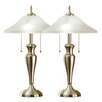 "Artiva USA 24"" H Table Lamp with Bowl Shade (Set of 2)"