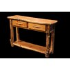 Utah Mountain Aspen 2 Drawer Console Table with Shelf