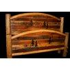 Utah Mountain Barnwood Arch Panel Bed