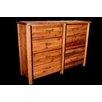 Utah Mountain Barnwood 8 Drawer Dresser with Round Legs