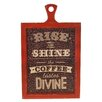 American Mercantile Wood Sign 'Divine' Wall Decor