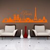 Style and Apply Paris Skyline Wall Decal