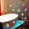 Style and Apply Colorful Cute Fish Wall Decal