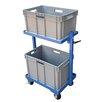 Vestil 200 lbs 1 Shelf 2 Basket Multi-Tier Cart