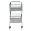 Vestil Mail Cart with Double Tray and Basket