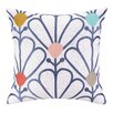 Elizabeth Olwen Elizabeth Olwen Pretty Petals Embroidered Throw Pillow