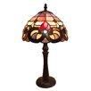 "Fine Art Lighting Tiffany 15"" H Mini-Table Lamp with Bowl Shade"