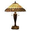 """Fine Art Lighting Tiffany 23"""" H Table Lamp with Empire Shade"""