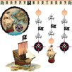 Creative Converting Pirates Map Party Decor Kit